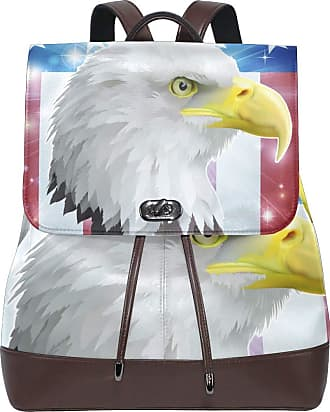 Ahomy Ladies Fashion PU Leather Backpack America Bird Flag Concept Anti-Theft Rucksack Shoulder Bag