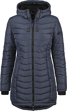 Blend Nelly Womens Quilted Coat Parka Outdoor Jacket with Hood, Size:XL, Colour:Mood Indigo (20064)