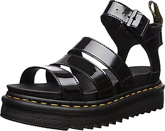 d6c3ebc049e0 Dr. Martens Womens Blaire Patent Leather Fisherman Sandal Black Brando