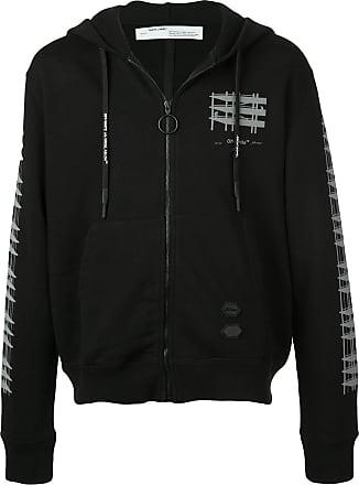 Off-white sleeve and back geometric details zipper - Preto
