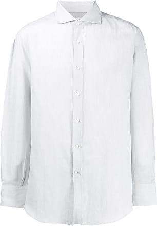 Brunello Cucinelli Camisa lisa com botões - Cinza
