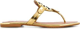 Tory Burch logo sandals - GOLD