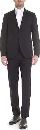 Lardini Two-buttoned suit in black