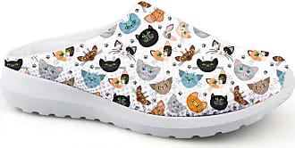 Coloranimal Funny Cartoon Cat Pattern Memory Foam Sandals Non-Slip Slippers US9