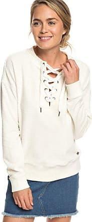7a14fee4b41 Roxy Lucky Sunshine - Sweat lacé en velours pour Femme - Blanc - Roxy