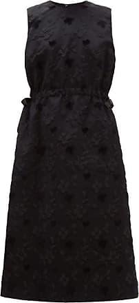 Comme Des Garçons Floral Fil-coupé Tulle-underskirt Dress - Womens - Black