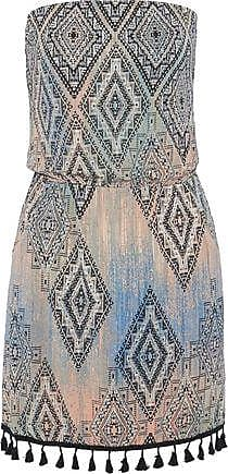 Tart Collections Tart Collections Woman Anita Strapless Tasseled Printed Stretch-modal Jersey Mini Dress Multicolor Size S