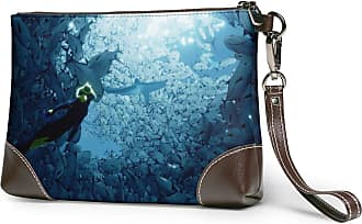 GLGFashion Womens Leather Wristlet Clutch Wallet Diving Storage Purse With Strap Zipper Pouch