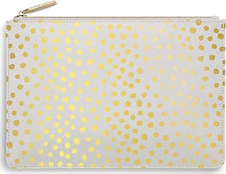 Katie Loxton Dalmatian Print Womens Medium Vegan Leather Clutch Perfect Pouch Pale Grey