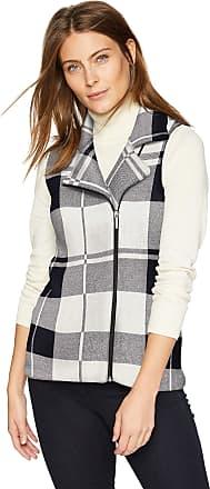 Chaps Womens Solid Fashion Mockneck Sleeveless Vest