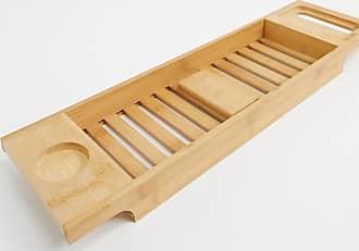 Calm Club bamboo bath board with incense tray and cones-Multi