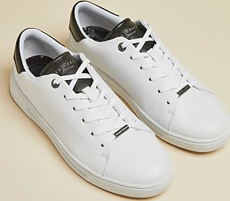 Ted Baker Leather Monochrome Trainers in White ZENIB, Womens Accessories