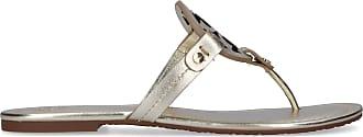 Tory Burch Flip Flops MILLER calfskin Logo gold