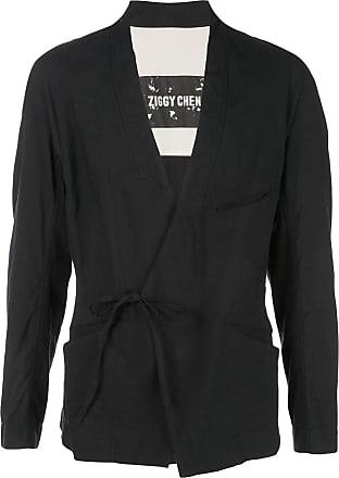 Ziggy Chen wrap-tie blazer - Black
