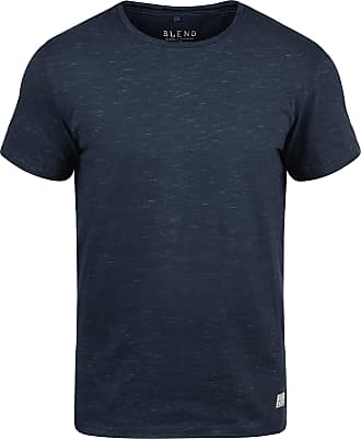 Blend Barnd Mens T-Shirt Short Sleeve Shirt Tee with Crew Neck, Size:M, Colour:Navy (70230)