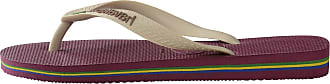 Havaianas Unisex Adults HAV Brasil Logo Bordeaux Flip-Flop, Multicolor (Black/Black/Turquoise), 8 Child UK