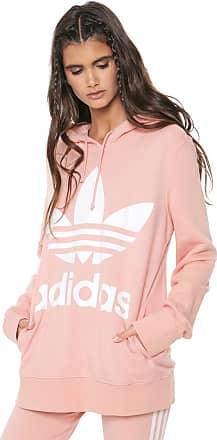 aaf68f282e0 adidas Originals Moletom Fechado adidas Originals Trefoil Hoodie Rosa