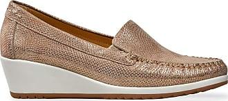 Van Dal Womens Meg Lightweight Low Wedge Loafer, Sesame Pebble Print, Size 36 EU