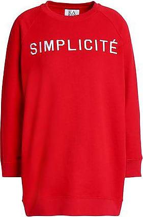 Zoe Karssen Zoe Karssen Woman Embroidered French Cotton-terry Sweatshirt Red Size XS
