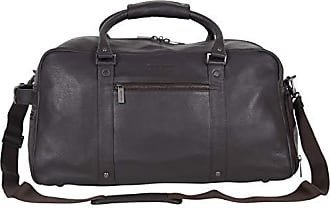 Kenneth Cole Reaction Kenneth Cole Reaction Mens 20 Leather Top Zip Travel with RFID Duffel Bag Brown One Size