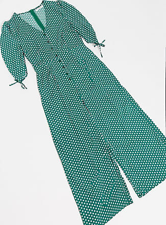 Glamorous wide leg Jumpsuit in green multi spot