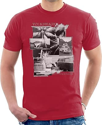 Volkswagen Built for Summer Mens T-Shirt Cherry Red