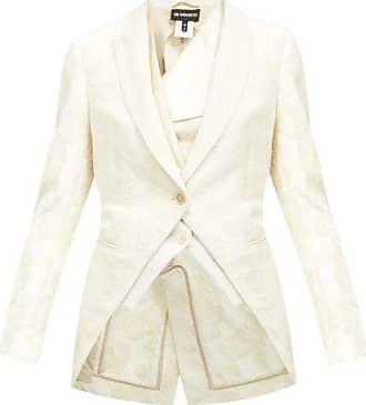 Ann Demeulemeester Floral-embellished Cotton Jacket - Womens - White