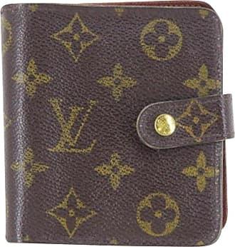 5bea353939ca Louis Vuitton Brown Monogram Compact Zip 219769 Wallet
