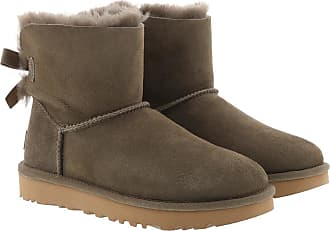 UGG Boots & Booties - W Mini Bailey Bow II Eucalytpus - brown - Boots & Booties for ladies