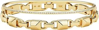 Michael Kors MKC1001AN710 Hinged Bangle Mercer Link Gold