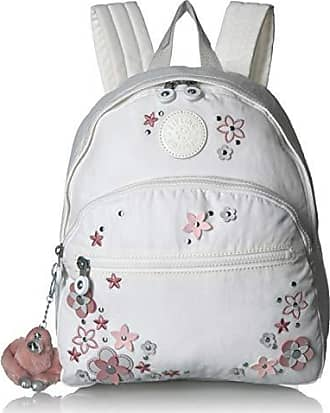 Kipling Paola, Adjustable, Padded Backpack Straps, Zip Closure, ALABASTER FLOWER TONAL