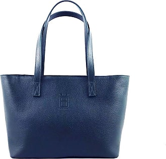 Comembreisd Woman handbag 42cm in blue leather designed and handmade in Italy