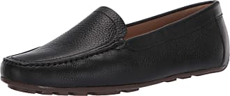 Driver Club USA Womens Leather Made in Brazil Driving Loafer with Venetian Detail, Black Grainy/Natural Sole, 6.5 UK