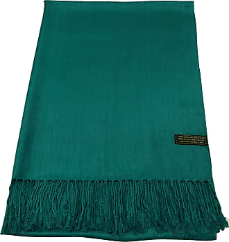CJ Apparel Jade Green Solid Colour Design Nepalese Tassels Shawl Scarf Wrap Pashmina Seconds NEW(Size: One Size)