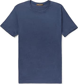 Loro Piana Silk And Cotton-blend Jersey T-shirt - Navy