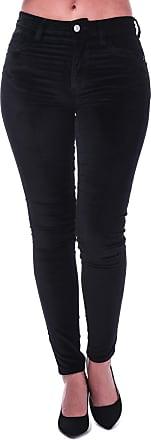 French Connection Womens Womens Ryha Velvet High Rise Skinny Jeans in Black - 12