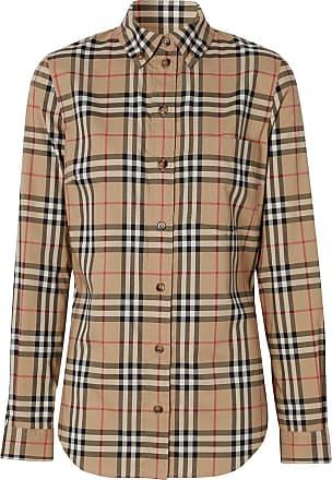 Burberry Camisa com xadrez Vintage Check e abotoamento - Marrom