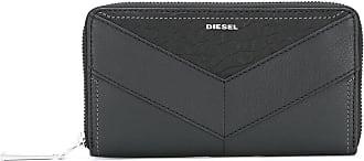 Diesel Carteira de couro com logo - Preto