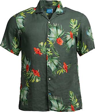 Panareha Camicia Aloha di lino HONOLULU verde