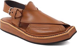 Unze Unze Mens BRET Peshawari Kapttan Leather Sandals UK Size 6-11 - 0013