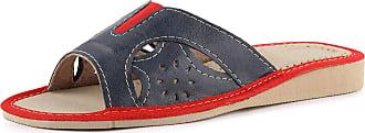 Ladeheid Womens Slippers House Shoes LAFA047 (Navy/Red, 40 EU = 6.5 UK)