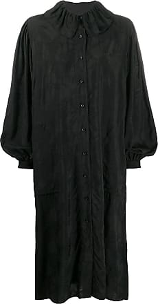Uma Wang oversized long-sleeve shirt dress - Black