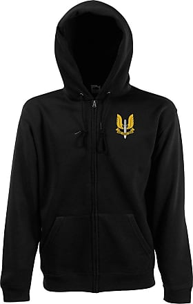 Official Full Zip Fleece By Military Online Special Air Service SAS Embroidered Logo