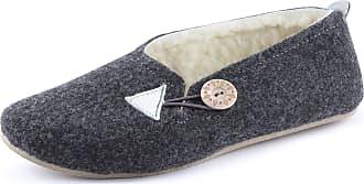 Ladeheid Women´s Felt Slippers Shoes Flipflops PFF83 (Dark Melange, 40 EU = 6.5 UK)