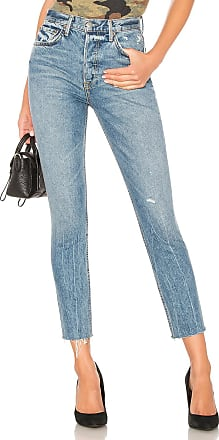 GRLFRND Karolina High-Rise Skinny in Blue