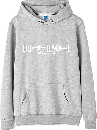 Haililais Death Note Pullover Pullover Sweatshirt Long Sleeve Sweater Outerwear Adult Casual Sports Fashion Wild Warm Men and Women Unisex (Color : Gray03, Size