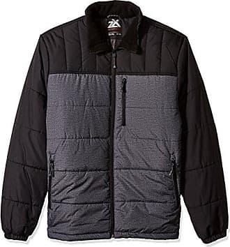 ZeroXposur Mens Big and Tall Big & Tall Flex Quilted Puffer Jacket, Black Denim, Large