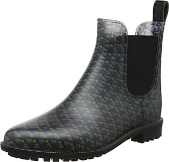 Joules Womens Rockingham Wellington Boots, Black (Black Feather Geo), 8 UK 42 EU
