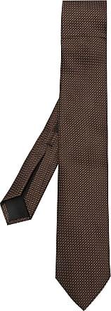 BOSS Gravata de seda estampada - Marrom