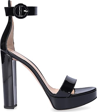 Gianvito Rossi Platform Sandals G61124 patent leather black